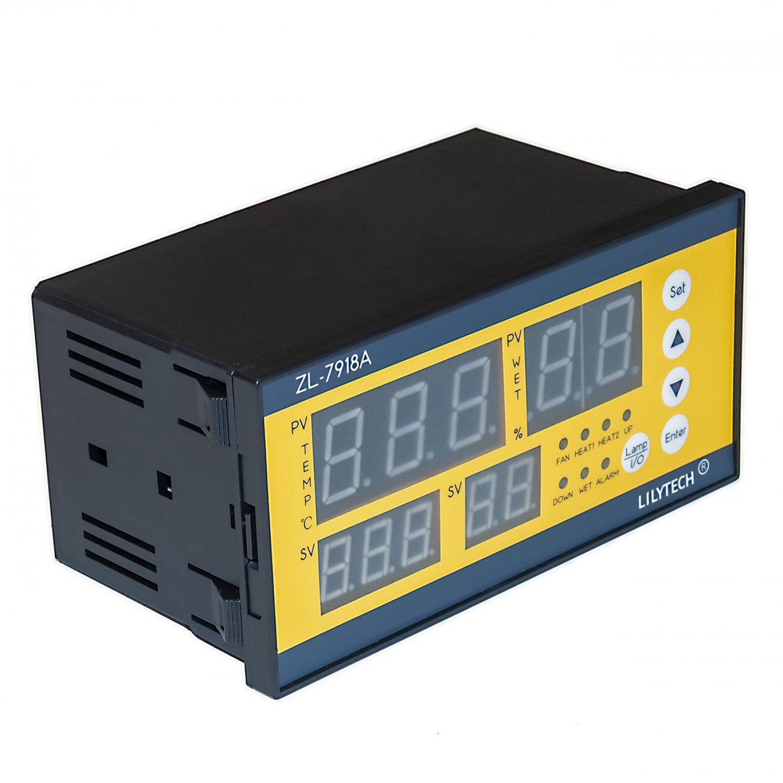 Терморегулятор LILYTECH ZL-7918А (темп + влажность + переворот+проветривание)