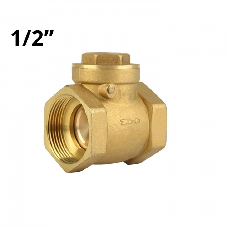 Горизонтальный обратный клапан в/в 1/2, латунь