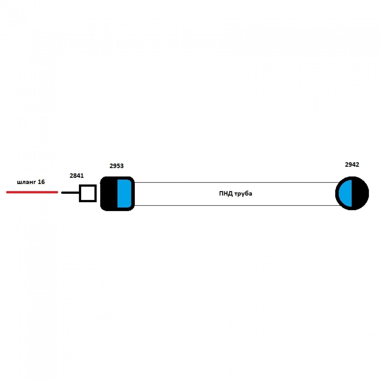 Переход на ПНД с со шланга 16 мм