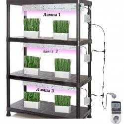 Готовый стеллаж для выращивания растений