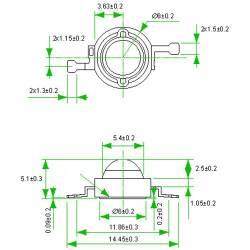 Фито светодиод 3 Вт 2900К (теплый белый)
